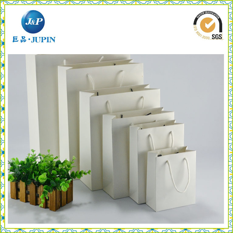 Wholesale Custom White Paper Carry Bag for Gift (JP-PB015)