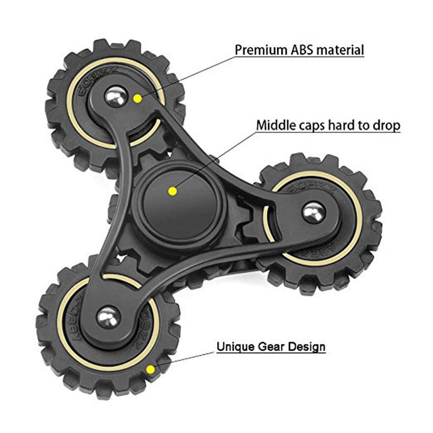 Ceramic Bearing Fidget Hand Finger Tri Spinner 4 Gears Fidget Spinner