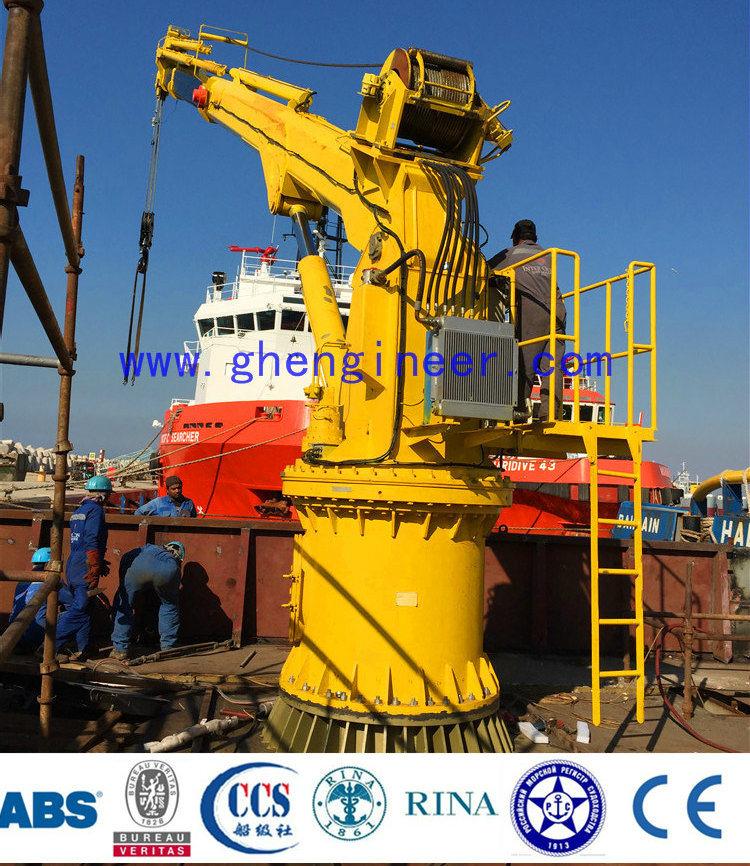 Ghe 24t@3m &4t@30m Electric Hydraulic Crane Pedestal Crane Marine Crane