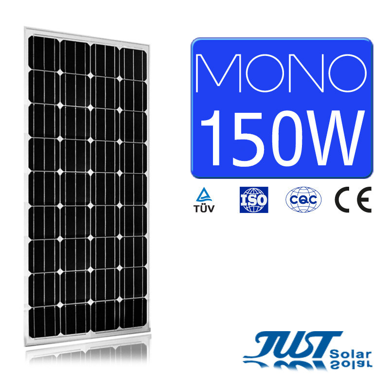 150W Mono Solar Panel with Certifications of Ce, CQC, and TUV