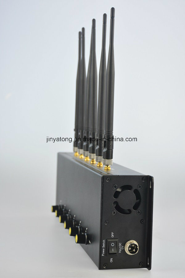 New Adjustable 6 Antennas Desktop Mobile Phone Signal Blocker 3G 4G Cell Phone Jammer