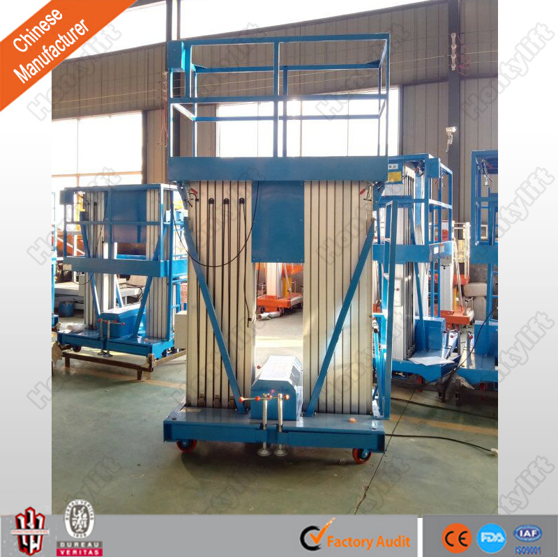 Double Mast Aluminum Alloy Lift/Aerial Work Platform