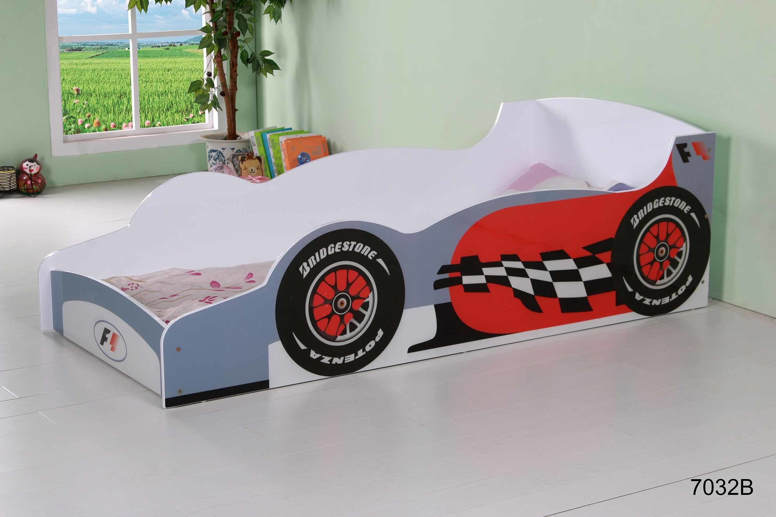 New Kids Race Car Bed Toddler Bed Child Furniture Bedroom Red