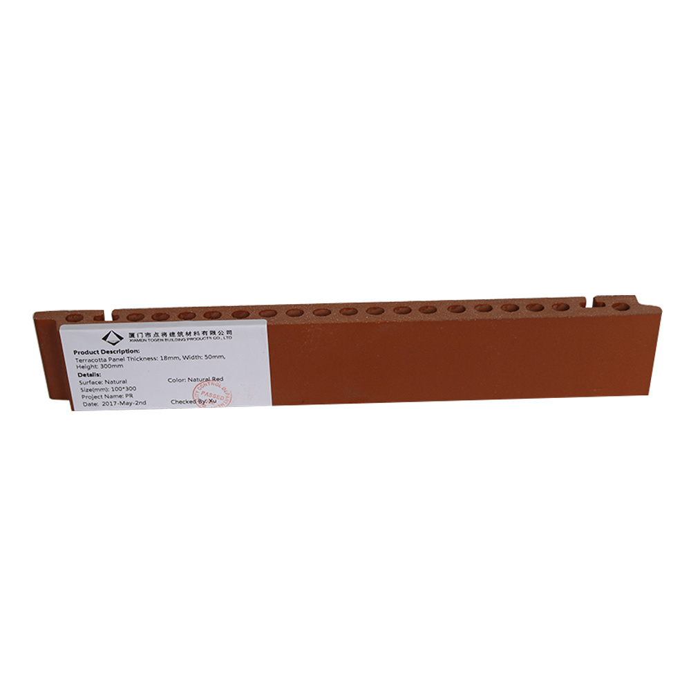 Ventilated Facade Rainscreen Terracotta Panel with Fixation Accessories