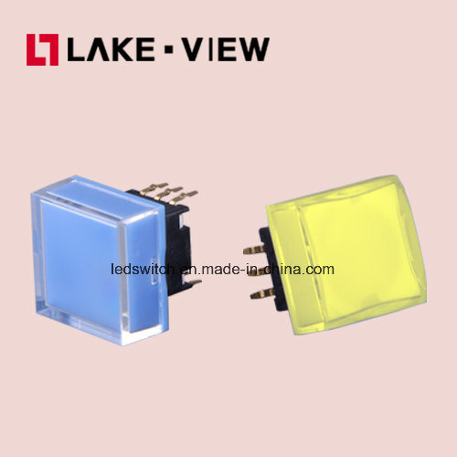 Lead Free 50mA 12VDC 15*15 Square Illuminated Tactile Switch