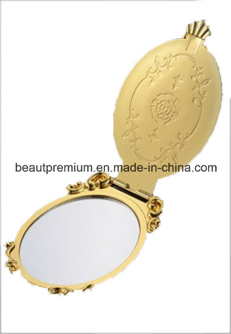 Plastic Golden Rose Folding Cosmetic Mirror L′oreal Audit Make up Mirror BPS034