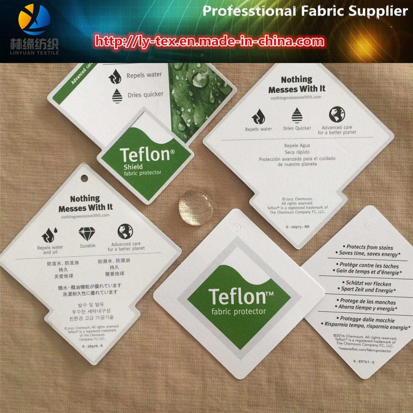 Teflon Nylon Taslon Check Fabric for Garment, Nylon Fabric (LY-R0109)