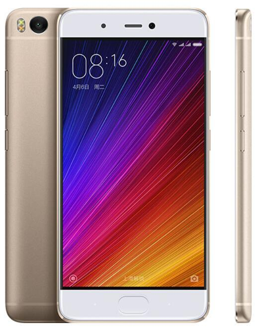 M I 5s M I 5s 3GB RAM 64GB ROM Mobile Phones Snapdragon 821 5.15′′ 12.0MP Camera Cellphone Ultrasoni Fingerprint ID Smart Phone Gold