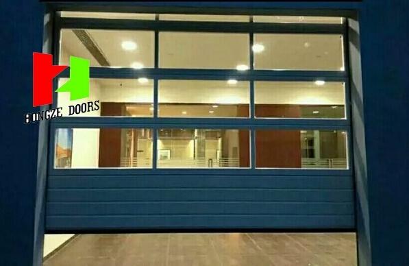 Automatic Commercial Crystal Door Transparent Door Polycarbonate Roller Door (Hz-FC040)