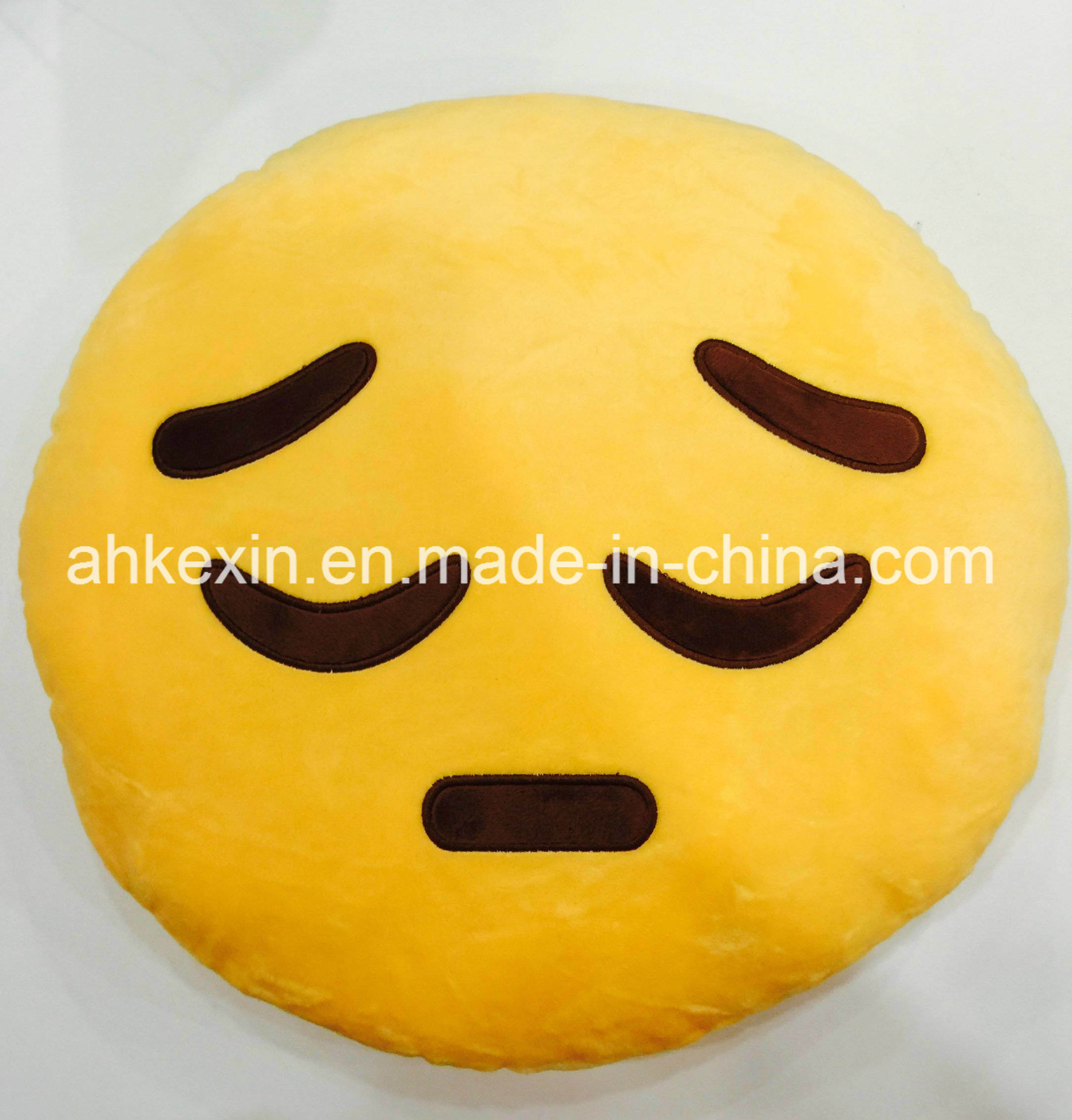 Yellow Soft Kids Emotion Plush Toy Emoji Pillow