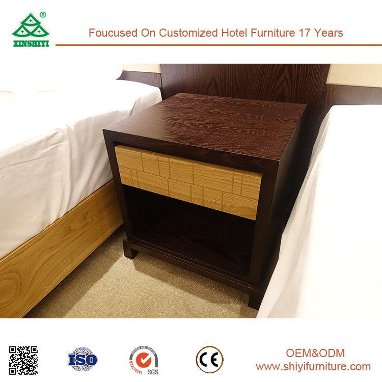 2017 Fashion Stiching Color Bedroom Furniture Set for Hotel