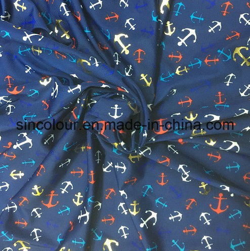 Glitter Print 88%Polyester 12%Elastane Fabric for Swimwear