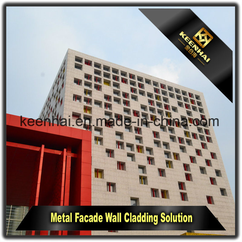 Architectural Peforated Aluminum Sheet Curtain Wall Building Panels for Decoration