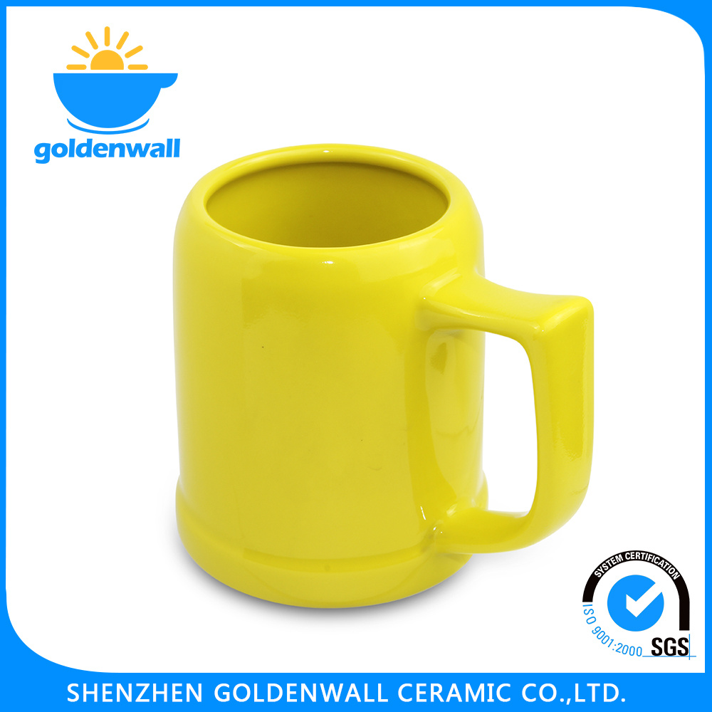 450ml Yellow Porcelain Personalize Beer Mug