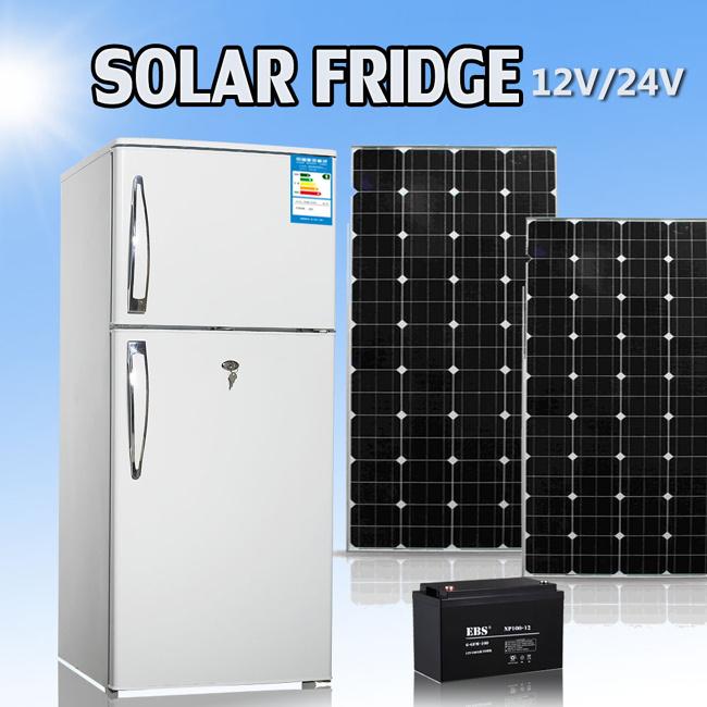 215L DC Mini Compressor Solar Energy Powered Freezer Refrigerator Fridge