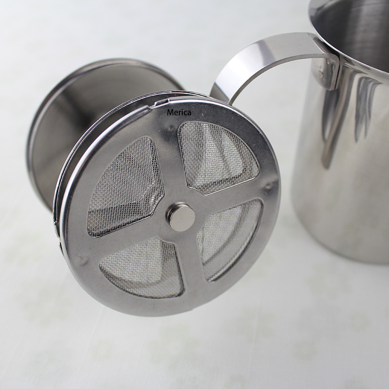 Stainless Steel 450ml Double Mesh Coffee Milk Frother