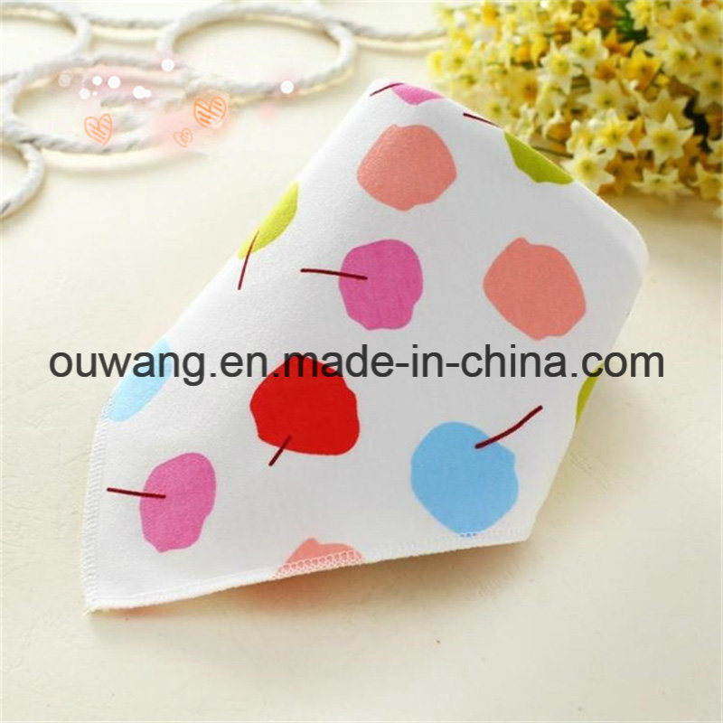 Hot Selling Cute Printed Water Absorb Organic Cotton Bandana Bibs