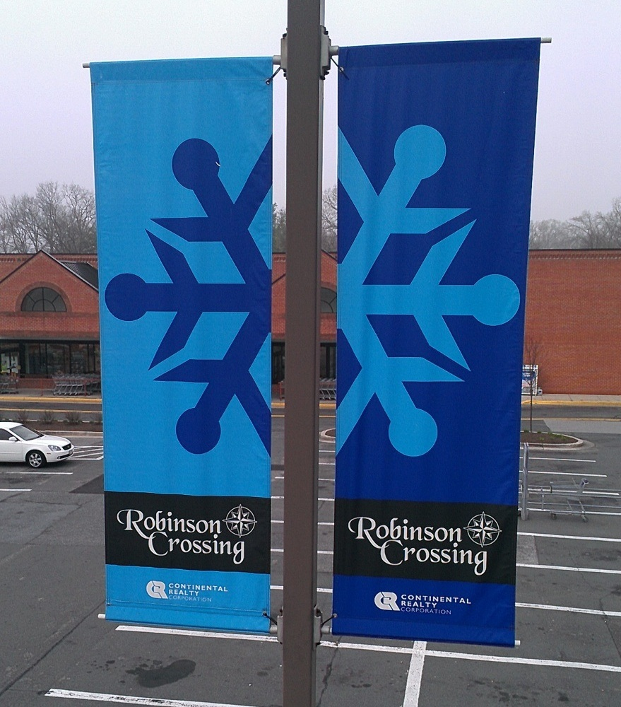 Custom Full Color Printed Double Sided Street Pole Banners