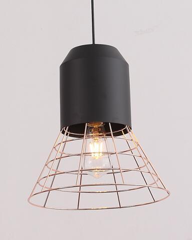 Gold Iron Metal Net Shade Hanging Pendant Light (P-170502-S)