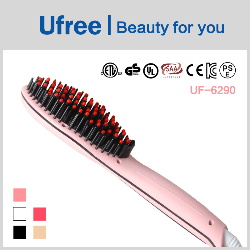 Ufree Electric Hair Straightening Comb Professional Hair Straightener