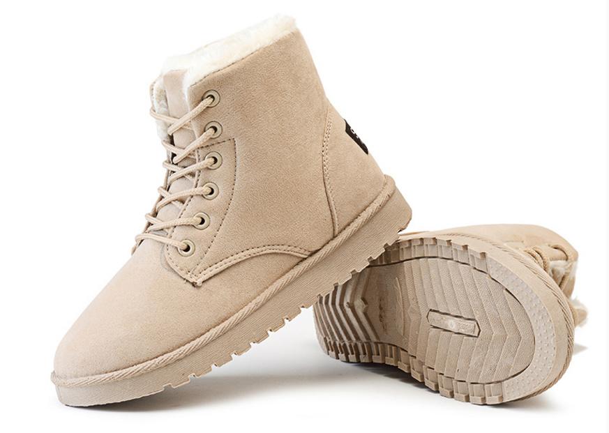 Lady Tan Winter Snow Boots
