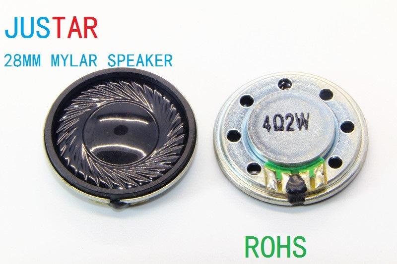 28mm 8-32ohm 0.25-2W Mylar Speaker Micro with RoHS