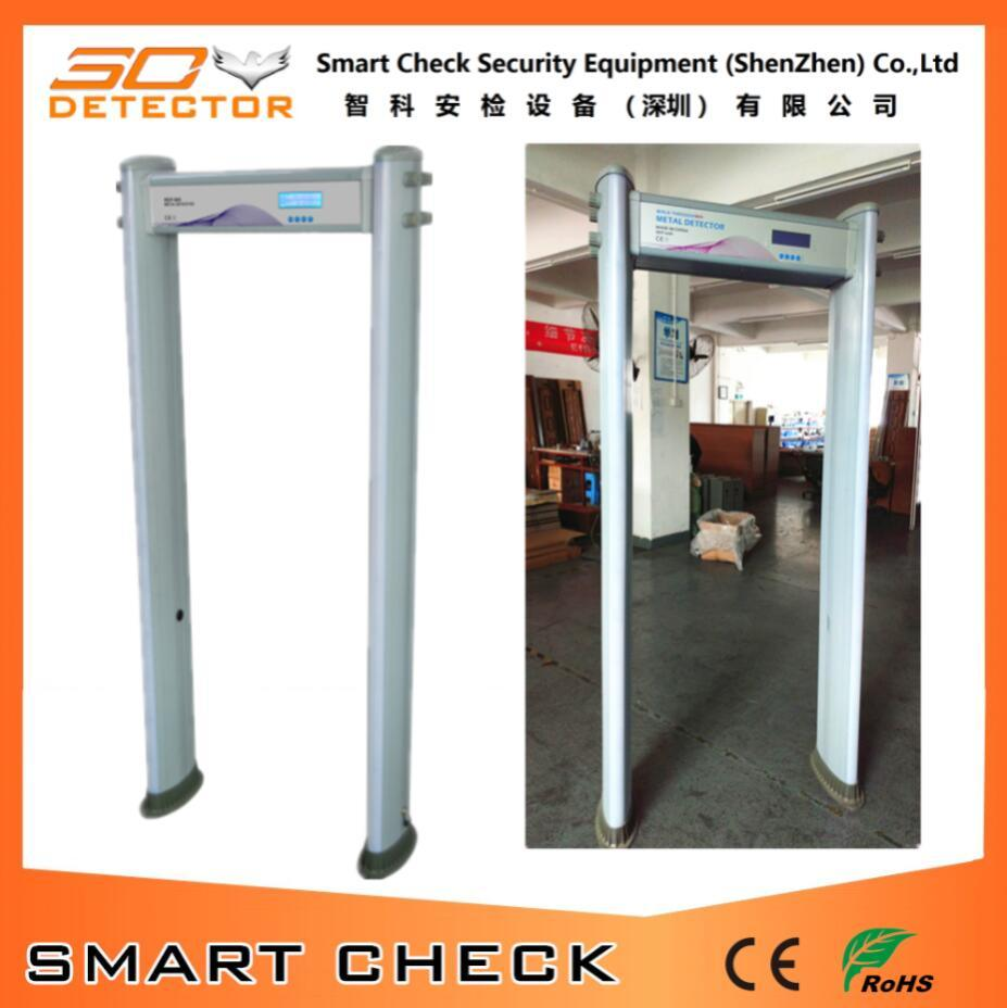 6 Zone Door Frame Metal Detector Cylindrical Walk Through Metal Detector