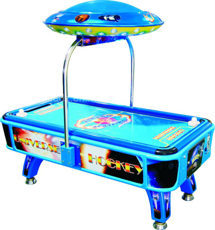 2015 Atrax Expo Promotion Universal Space Amusement Game Machine Air Hockey Table Children Universe Air Hockey Coin Operated Machine