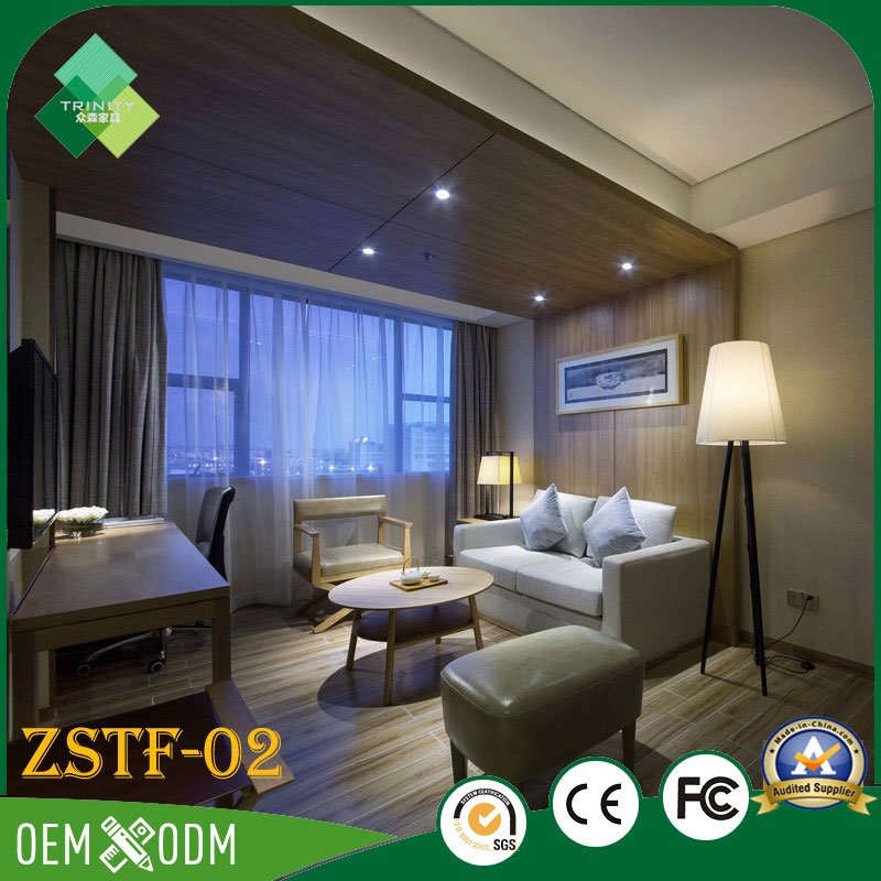 India Style Modern Solid Wood Hotel Bedroom Furniture (ZSTF-02)