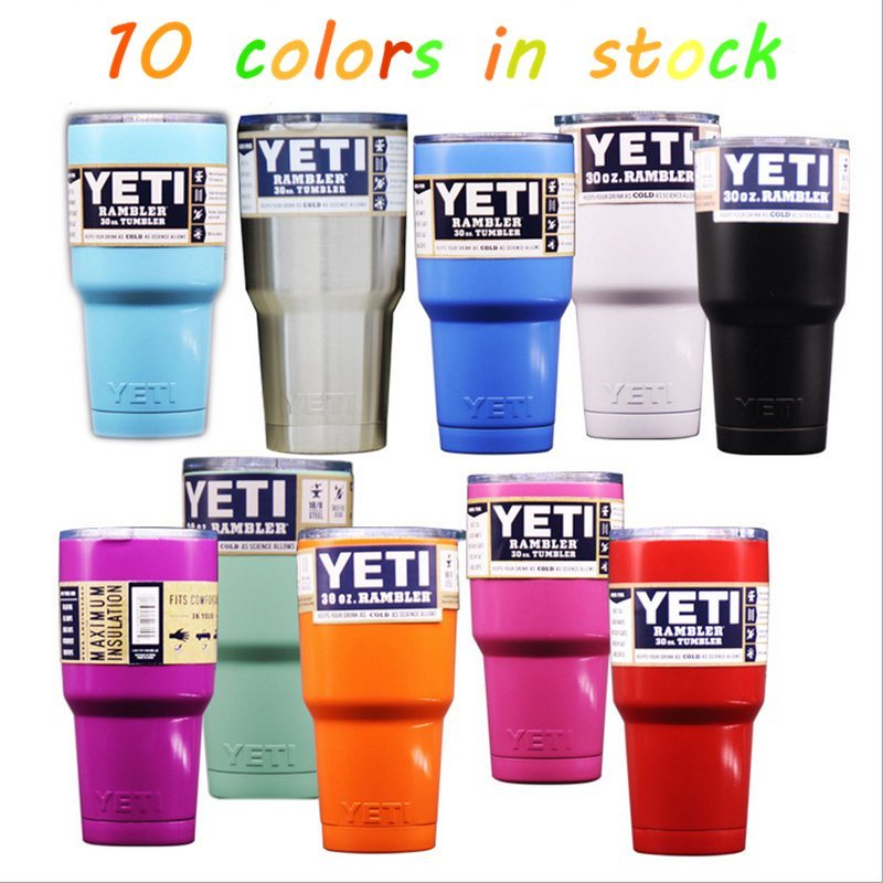 China 10 Colors Yeti Cup Rambler Tumbler Price, 12oz, 20oz, 30oz
