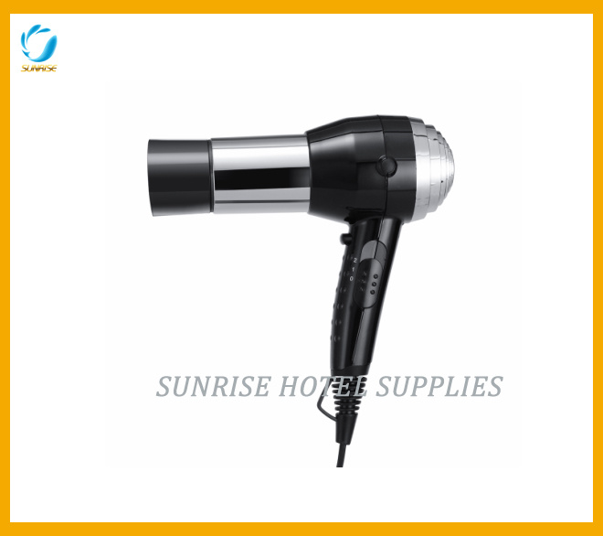 Hotel Hand-Held Hair Dryer with Removable Nozzle