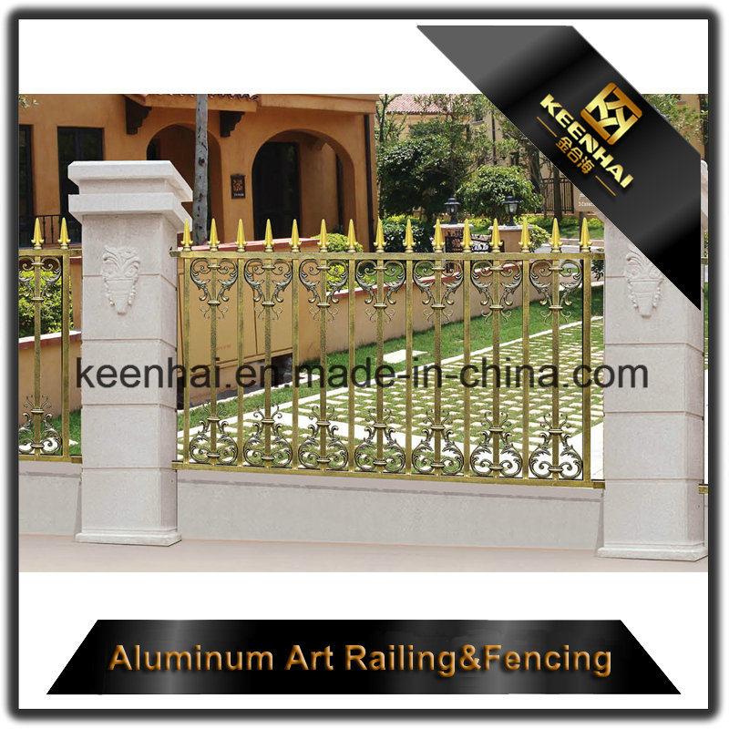 Decorative Power Coated Cast Aluminum Metal Garden Security Fence for Villa
