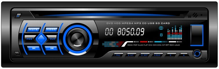 Single DIN Fixed Panel Car MP3 MP4 with FM Transmitter 605
