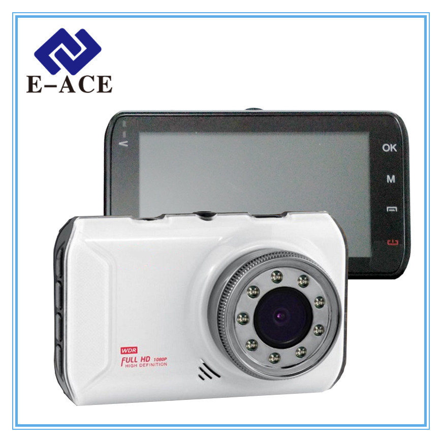 Novatek White Car Camera with 9 IR Lamps Night Vision