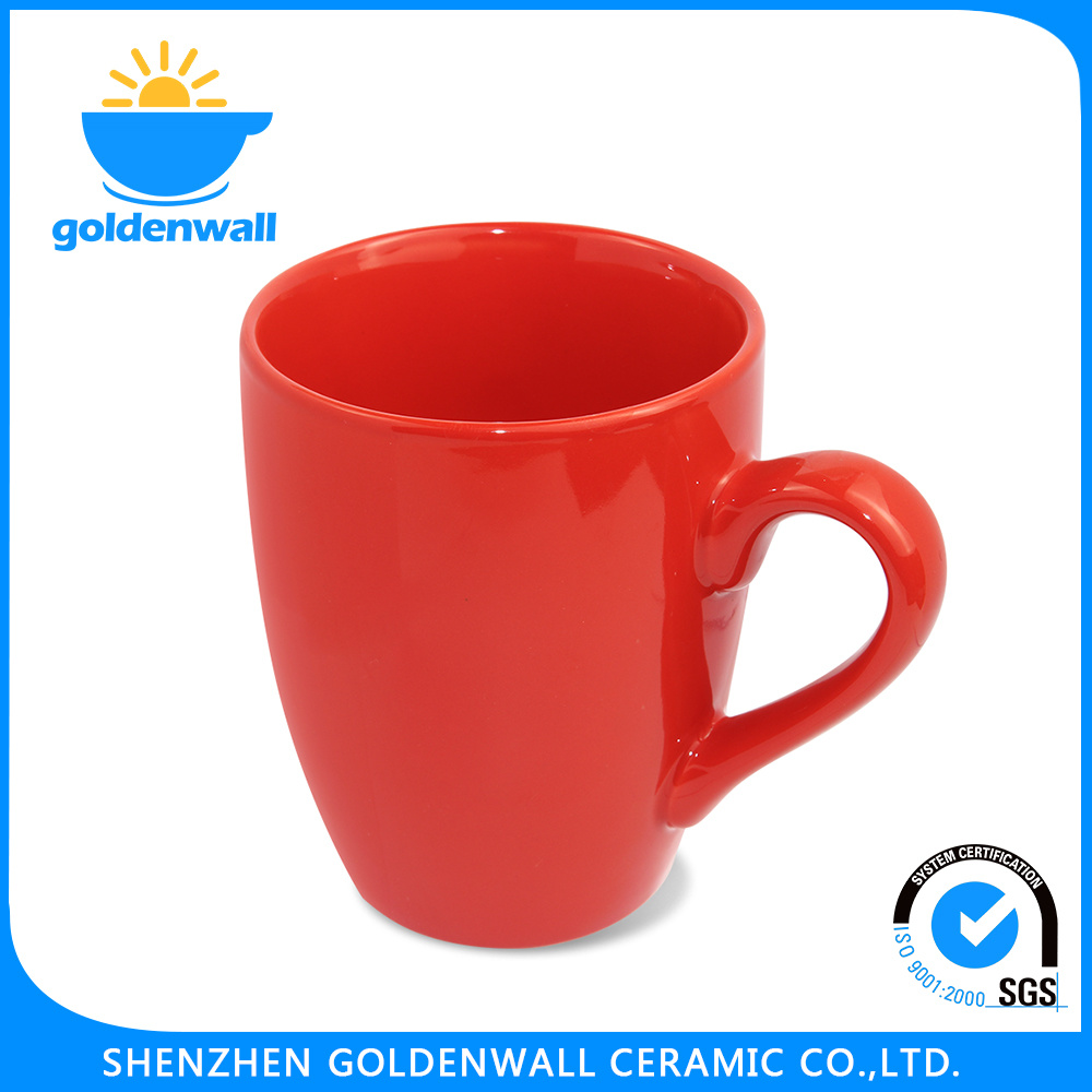 Daily Use Colored 375ml Porcelain Drinking Mug