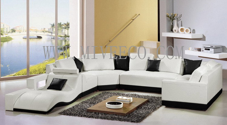 China leather sofa t 67 china furniture sofa for Salon moderne de luxe