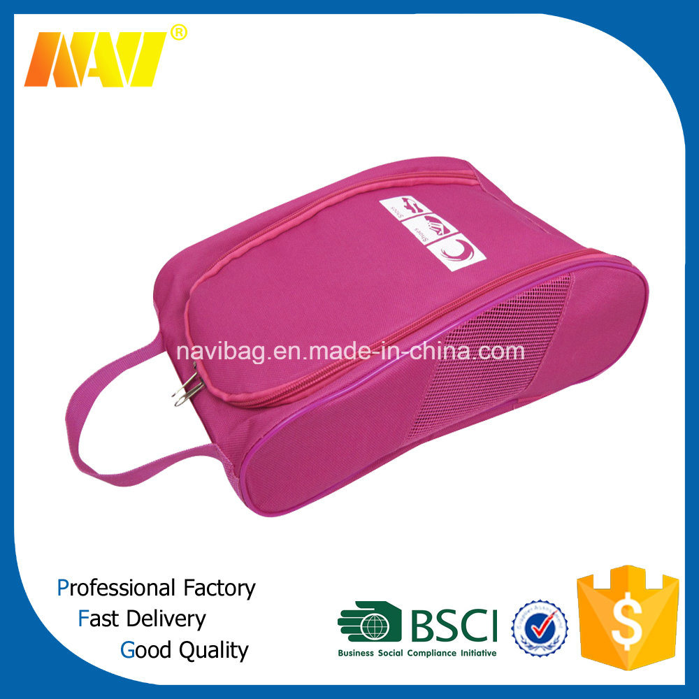 Fashion High Quality Polyester Golf Shoe Bag with Zipper
