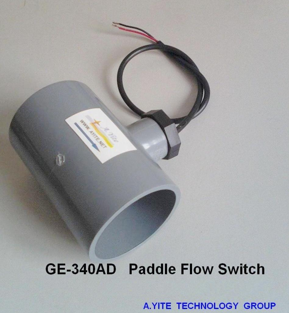 China ge ad plastic paddle flow switches