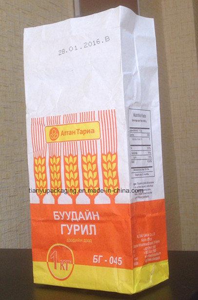 2 Layers Kraft Paper Bag for Flour Packaging/ Wheat Flour Bag