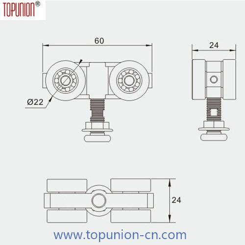 Glass Sliding Door Roller (490-20G)