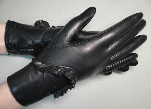 Lady Fashion Leather Gloves (JYG-23011)
