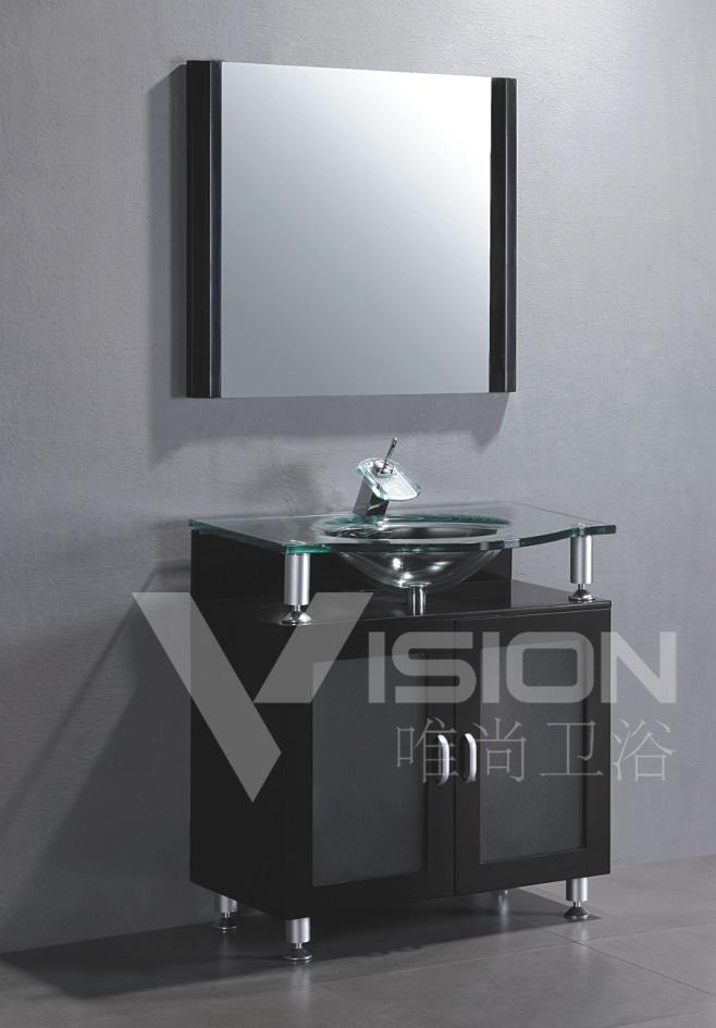 China Glass Vanity Unit Vs 7806 China Bathroom Vanity Unit Bathroom Cabinet