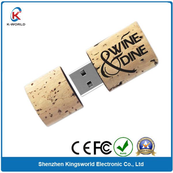Recycle Wood Wine Cork USB Flash Drive
