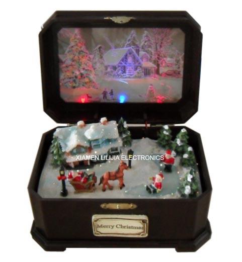 China Christmas Music Box (L-MB9002) - China musical box, music box