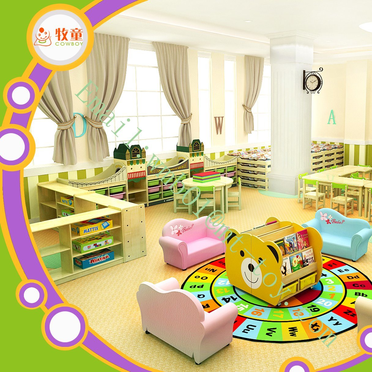 China Wholesale Price Nursery School Furniture School Furniture - Nursery tables and chairs