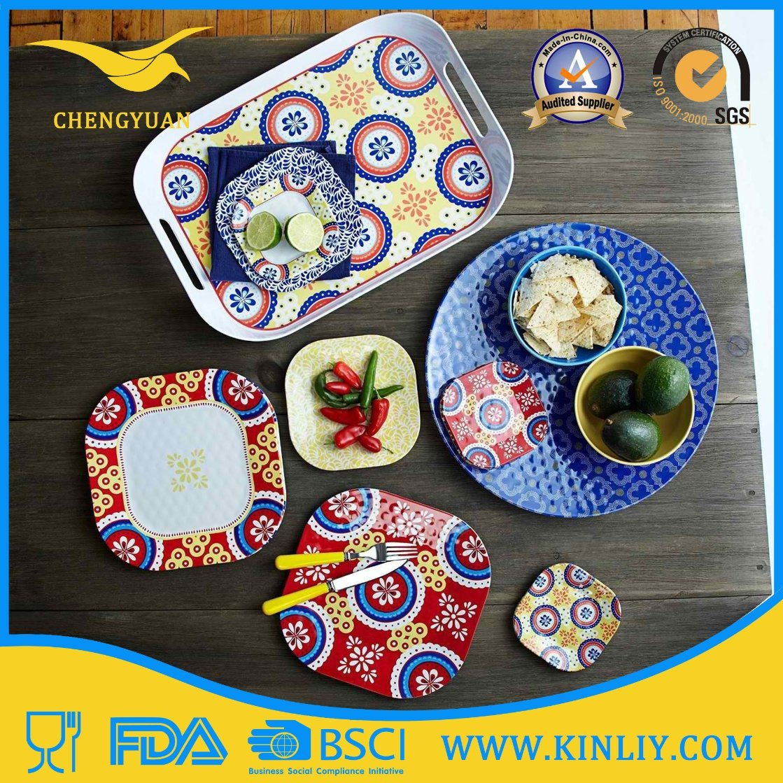 Cheap European China Us Melamine Plastic Restaurant Safe Round Square Modern Home Food Set Dish Dishware Dinner Plate Set Cup Bowl Tray Tableware Dinnerware