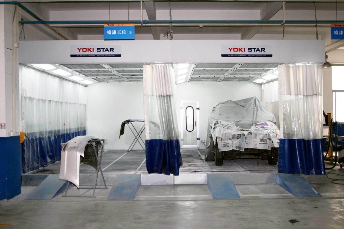China Full Downdraft Yokistar Prep Station Curtains Auto Paint
