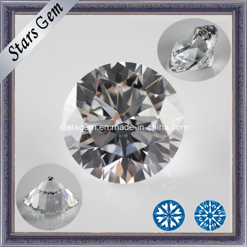 Star Cut Cubic Zirconia Gemstone for Jewelry