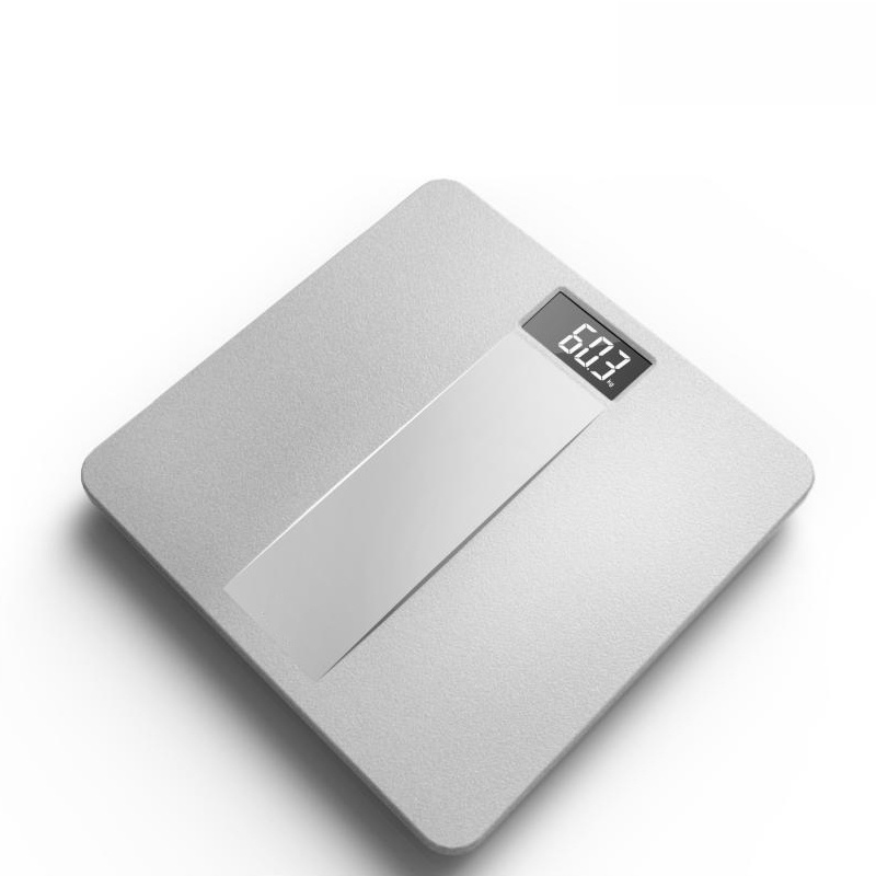 Metal Texture Design Electronic Weighing Scale with Strong Plastic Platform