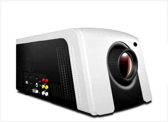 High Definition LED Projector HDMI DVD Player Support (T-300PD)